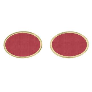 Maroon Simplicity Gold Finish Cuff Links