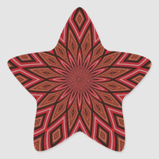 Maroon Symmetry Abstract Star Sticker