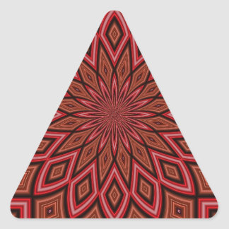 Maroon Symmetry Abstract Triangle Sticker