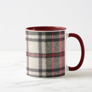 maroon tartan mug