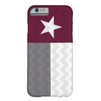 Maroon Texas Flag Chevron Barely There iPhone 6 Case
