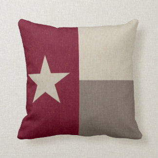 Maroon Texas Flag Fabric Cushion