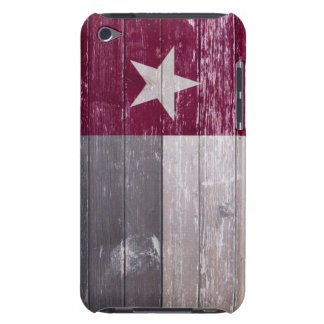 Maroon Texas Flag Painted Wood iPod Touch Cases