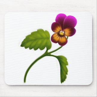 Maroon Viola Flower Mousepad