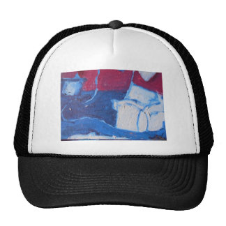 Maroon White and Blue Cap