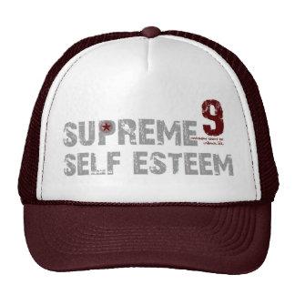 MAROON/WHITE SUPREME SELF ESTEEM UNISEX HAT