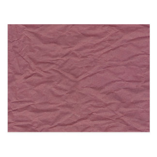 Maroon Wrinkled Paper Texture Post Card