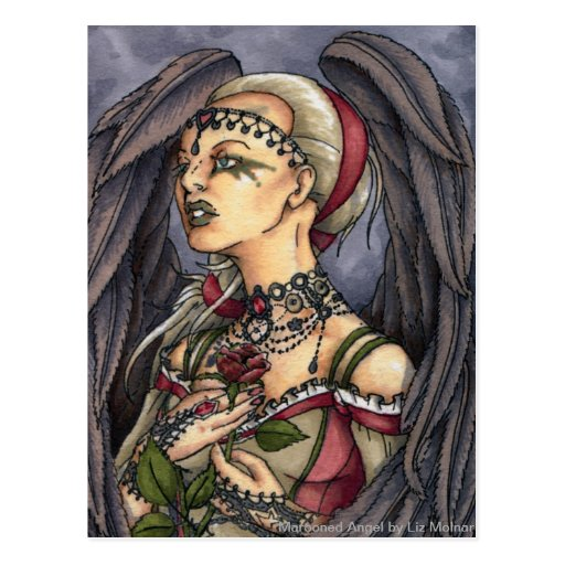Marooned - Gothic Angel Portrait Post Card