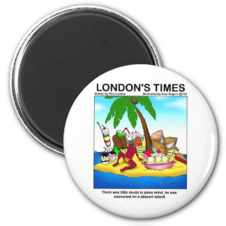 Marooned On Dessert Island Funny Tees & Gifts 6 Cm Round Magnet