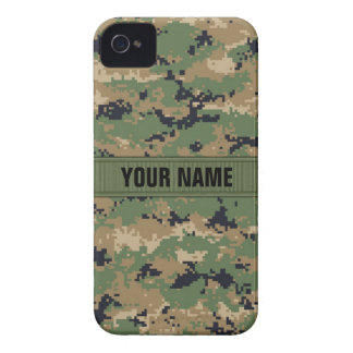 MarPat Digital Woodland Camo #2 Personalized iPhone 4 Cover