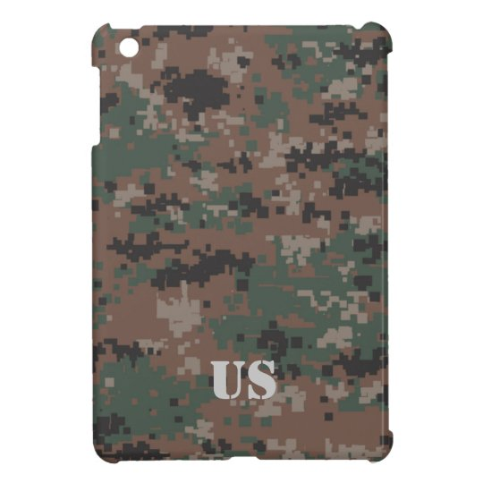 MarPat Digital Woodland Camouflage Customisable #1 Cover For The iPad Mini