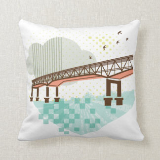 Marquam Bridge Portland Oregon Pillow