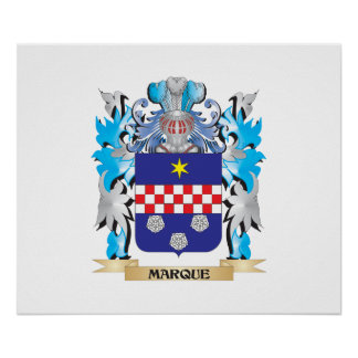 Marque Coat of Arms - Family Crest Print
