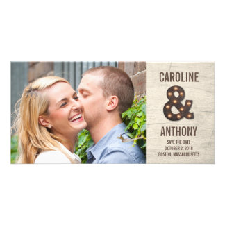Marquee Ampersand Save The Date Photo Cards