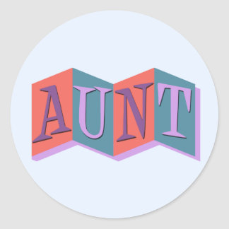 Marquee Aunt Stickers