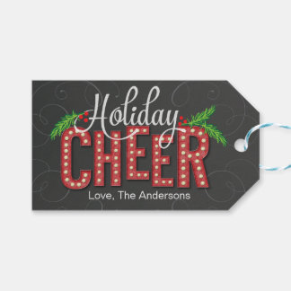 Marquee Cheer Holiday Gift Tag