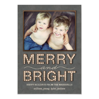 Marquee Lights Holiday Magnetic Card