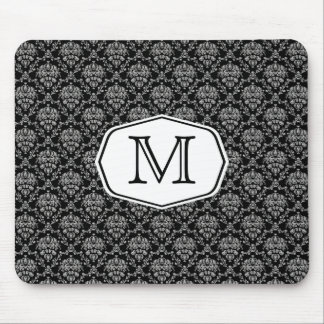 Marquee Monogram Damask Mouse Pad