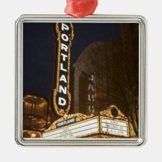 Marquee of Arlene Schnitzer auditorium Christmas Ornament