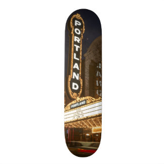 Marquee of Arlene Schnitzer auditorium Custom Skate Board