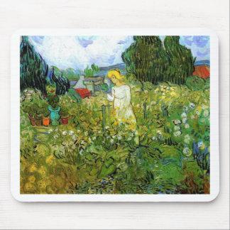 Marquerite Gachet in the Garden, Vincent van Gogh. Mouse Pad