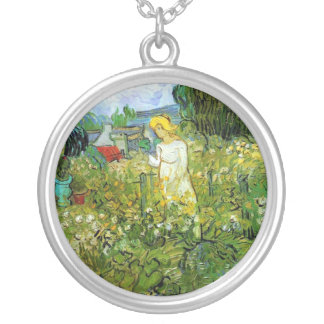 Marquerite Gachet in the Garden Vincent van Gogh Pendant
