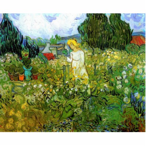 Marquerite Gachet in the Garden, Vincent van Gogh. Acrylic Cut Outs