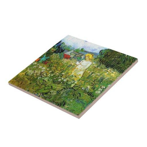 Marquerite Gachet in the Garden, Vincent van Gogh. Tile