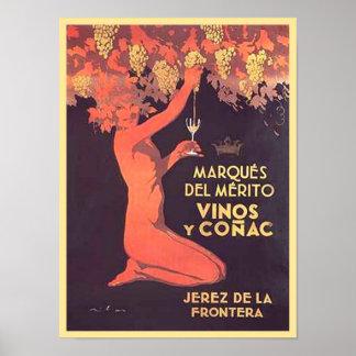 Marques Del Merito Vinos y Conac Poster