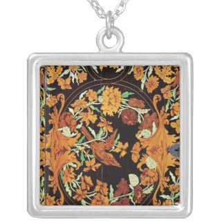 Marquetry box, English, c.1670 Silver Plated Necklace