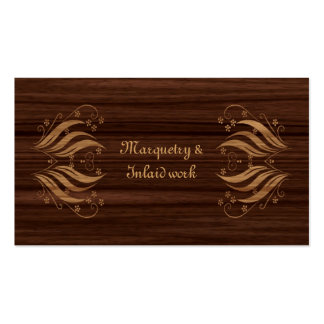 Marquetry inlaid wood pattern pack of standard business cards