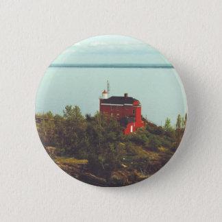 Marquette Harbor Lighthouse 6 Cm Round Badge