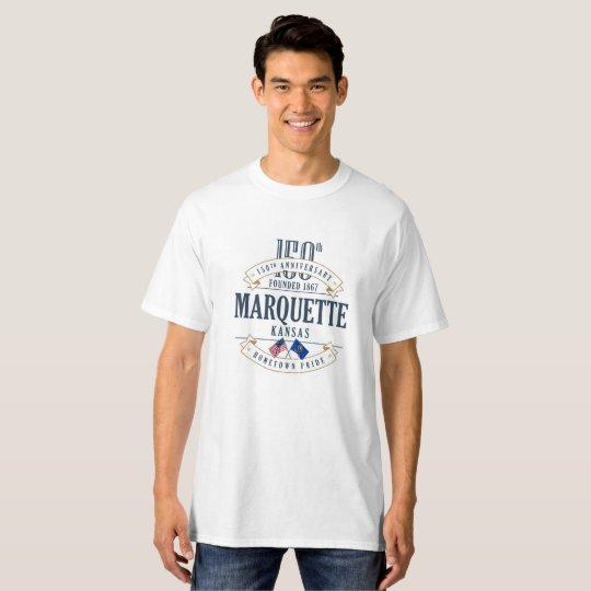 Marquette, Kansas 150th Anniversary White T-Shirt