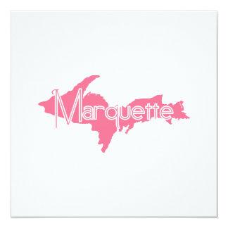 """Marquette, Michigan Upper Peninsula 5.25"""" Square Invitation Card"""