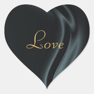 Marquis Black Heart Love Sticker