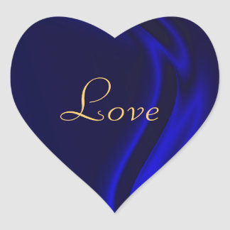 Marquis Blue Heart Love Sticker
