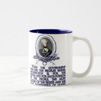 Marquis de Lafayette Quote on Insurrection Two-Tone Mug