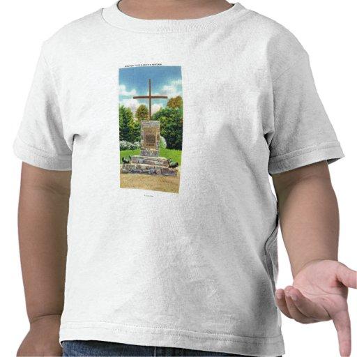 Marquis de Montcalm Monument Scene T-shirts