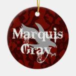 Marquis Grey Xmas Ornament