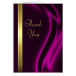 Marquis Pink Silk Gold Thank You Notecard Card