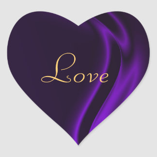 Marquis Purple Heart Love Sticker