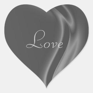 Marquis Silver Heart Love Sticker