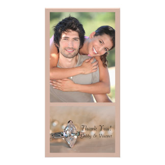 Marquise Diamond Engagement Ring Wedding Thank You Photo Card