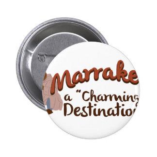 Marrakech Charming Destination 6 Cm Round Badge