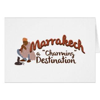 Marrakech Charming Destination Greeting Card