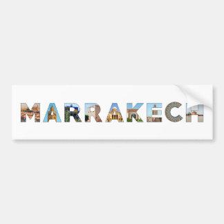 marrakech city morocco symbol text travel landmark bumper sticker