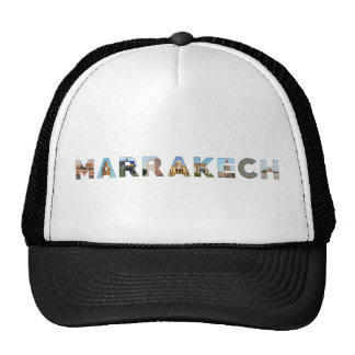 marrakech city morocco symbol text travel landmark cap