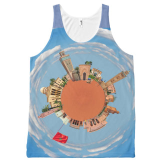 marrakech little planet morocco travel tourism lan All-Over print tank top