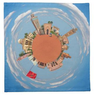 marrakech little planet morocco travel tourism lan napkin