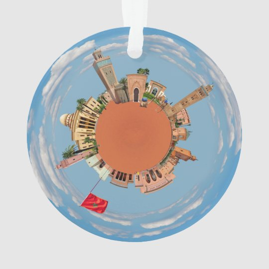 marrakech little planet morocco travel tourism lan ornament